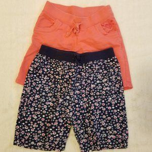 Set of 2 Pair Knee Length Shorts Girls L